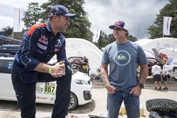 Robby Naish, Stephane Peterhansel, Carlos Sainz, Peugeot Sport