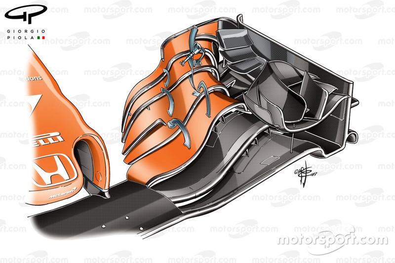 McLaren MCL32, alerón delantero