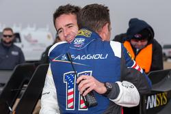 Winnaar #94 Romain Dumas, Volkswagen I.D. R Pikes Peak, Simone Faggioli