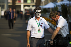 Sky Sport television personnel sport Day of the Dead-style face paint
