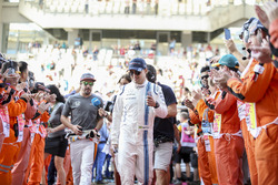 Felipe Massa, Williams, Fernando Alonso, McLaren, in the drivers parade