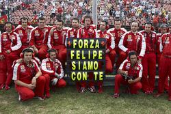 Un mensaje a Felipe Massa del equipo Ferrari