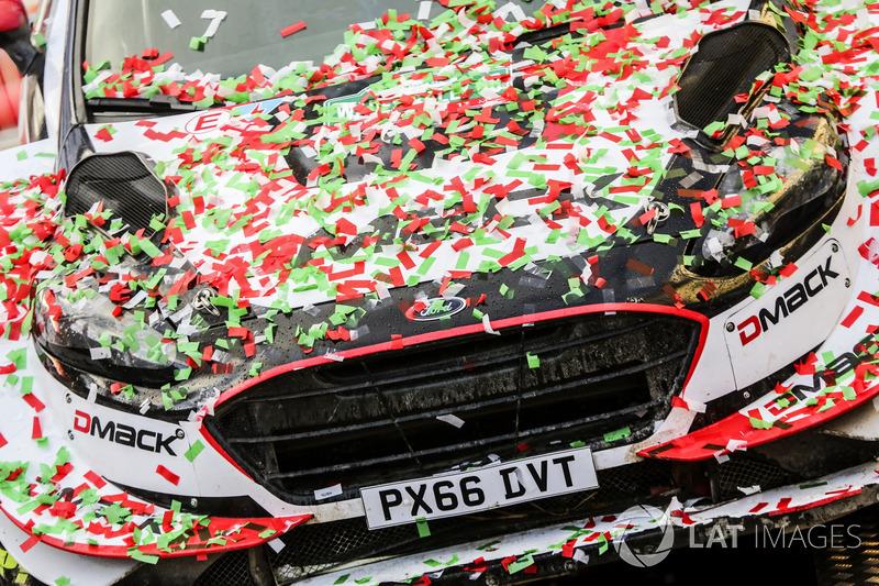 El coche de los ganadores Elfyn Evans, Daniel Barritt, Ford Fiesta WRC, M-Sport