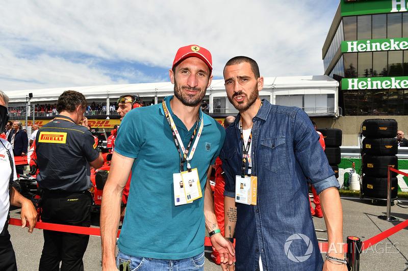 Giorgio Chiellini, calciatore, e Leonardo Bonucci, calciatore