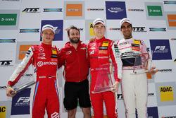 Podium: Race winner Marcus Armstrong, PREMA Theodore Racing Dallara F317 - Mercedes-Benz, second place Ralf Aron, PREMA Theodore Racing Dallara F317 - Mercedes-Benz, third place Jehan Daruvala, Carlin Dallara F317 - Volkswagen