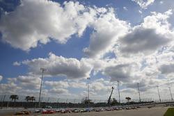 Daniel Hemric, Richard Childress Racing, South Point Hotel & Casino Chevrolet Camaro leads the field