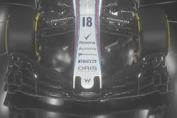 El Williams FW41 ala delantera