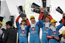 Podium LMP2: winners Julien Canal, Nicolas Prost, Bruno Senna, Vaillante