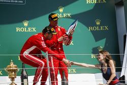 Sebastian Vettel, Ferrari y Nathalie McGoin