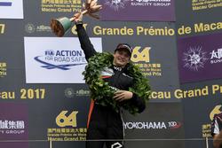 Podium: third place Ralf Aron, Van Amersfoort Racing, Dallara Mercedes