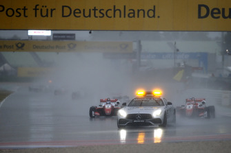 Formation lap behind the Safety Car