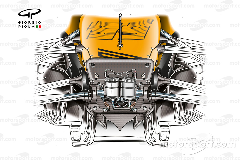 McLaren MCL35 chassis front