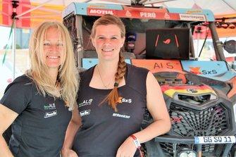 #385 SxS Racing4Charity-Team Face ALS: Annett Fischer, Andrea Peterhansel