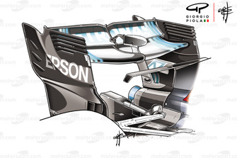 Mercedes F1 AMG W09 rear wing, Azerbaijan GP