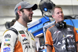 Daniel Suarez, Joe Gibbs Racing, Toyota Camry ARRIS and Scott Graves
