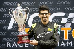 Ahmed Bin Khanen celebrates with the trophy after winning ROC Factor Saudi Arabia