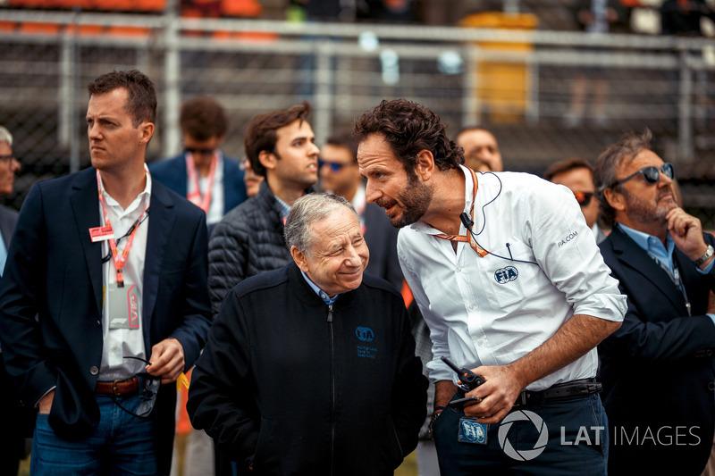 Jean Todt, FIA President and Matteo Bonciani, FIA Media Delegate