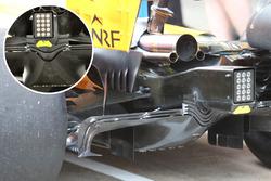 McLaren MCL33 diffuser comparsion