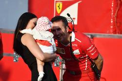 Minttu Virtanen, wife of Kimi Raikkonen, Ferrari with daughter Rianna Raikkonen