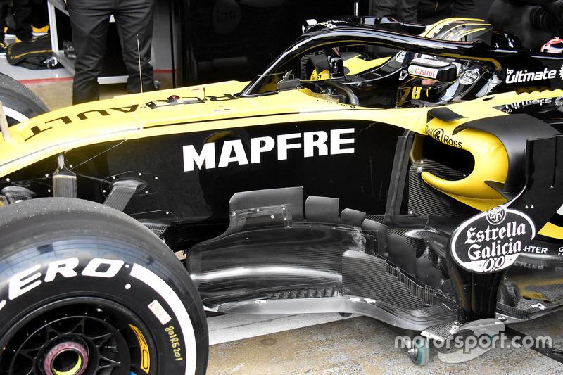 Renault Sport F1 Team RS18 yan bölüm detay