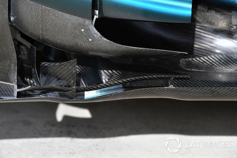 Detalle aerodinámico del Mercedes-Benz F1 W08