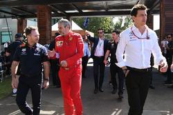 Christian Horner, Red Bull Racing Takım Patronu, Toto Wolff, Mercedes AMG F1 Motorsporları Direktörü ve Maurizio Arrivabene, Ferrari Takım Patronu