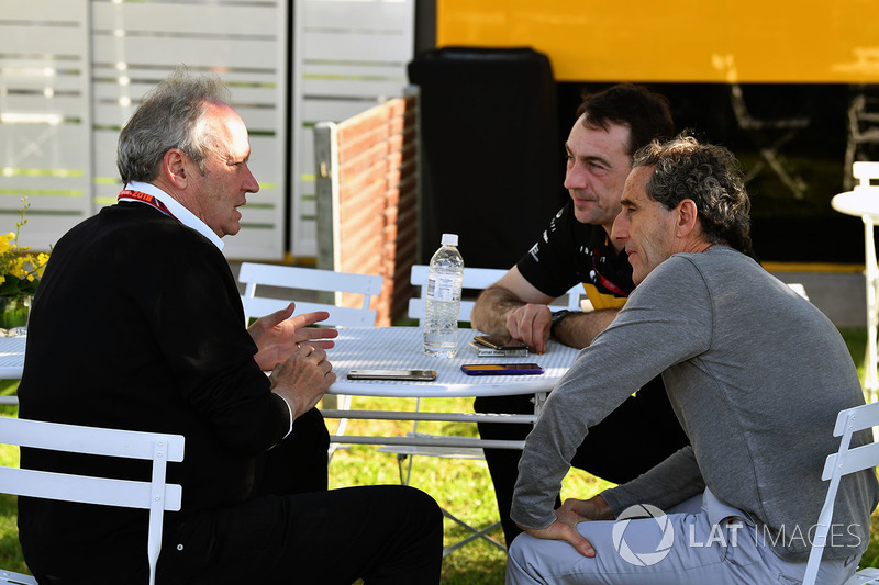 Jerome Stoll, Director of Renault Sport F1 ve Alain Prost, Renault Sport F1 Team Danışmanı
