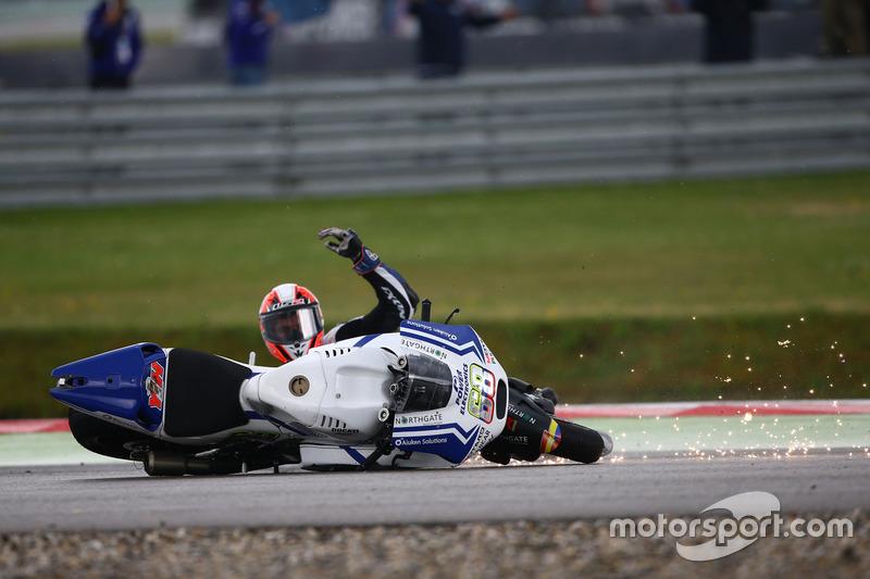 Yonny Hernandez, Aspar MotoGP Team crasht