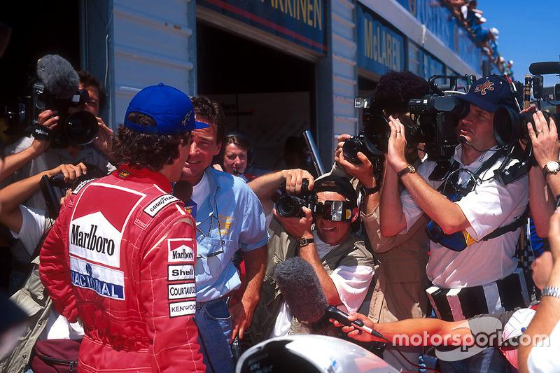 Ayrton Senna, McLaren interviewé par Barry Sheene