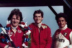 Sieger Rick Morris, Champion und Zweitplatierter Ayrton Senna, dritter Platz Alfonso Toledano