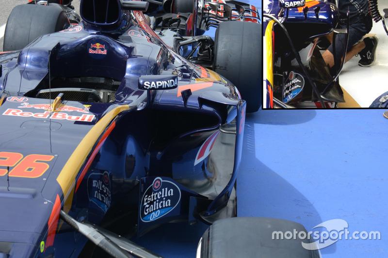 Toro Rosso STR11: Seitenkästen