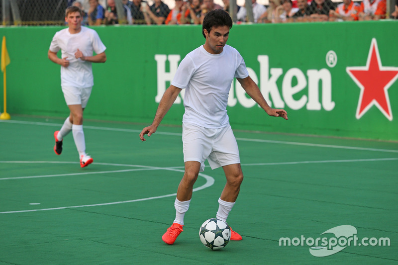 Heineken spornsorluğunda hayır işi için yapılan futbol maçı, Sergio Perez, Sahara Force India