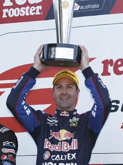 Podium: winner Jamie Whincup, Triple Eight Race Engineering Holden
