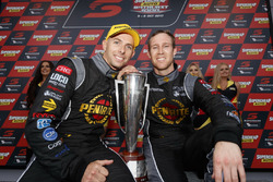 Race winners David Reynolds, Luke Youlden, Erebus Motorsport Holden with the trophy