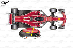 Ferrari SF70H floor cut