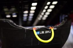 Sitzschale für Jose Maria Lopez, Toyota Gazoo Racing