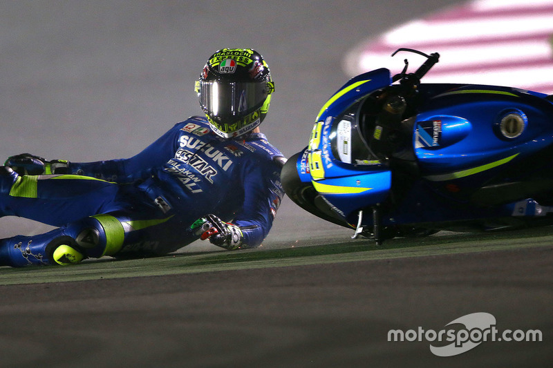 Andrea Iannone, 11 kali kecelakaan