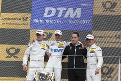 Podium: Sieger Lucas Auer, Mercedes-AMG Team HWA, Mercedes-AMG C63 DTM, 2. Paul Di Resta, Mercedes-AMG Team HWA, Mercedes-AMG C63 DTM, 3. Robert Wickens, Mercedes-AMG Team HWA, Mercedes-AMG C63 DTM