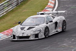 McLaren 675 LT race car spy shot