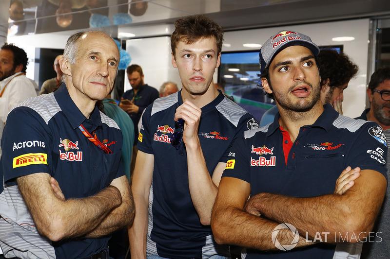 Франц Тост, керівник Scuderia Toro Rosso, Данііл Квят, Scuderia Toro Rosso, Карлос Сайнс-молодший, Scuderia Toro Rosso