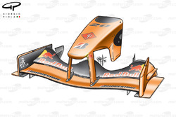Arrows A23 front wing and nose