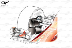 Ferrari F14 T front brake duct detail