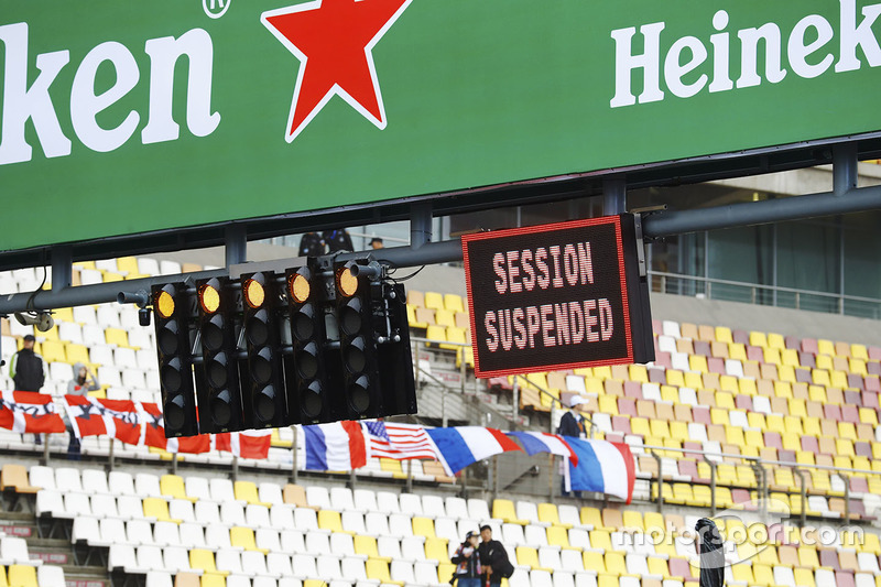 FP1 session suspended