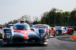 #7 Toyota Gazoo Racing Toyota TS050 Hybrid: Mike Conway, Kamui Kobayashi, Yuji Kunimoto, #71 AF Corse Ferrari 488 GTE: Davide Rigon, Sam Bird, #67 Ford Chip Ganassi Racing Ford GT: Andy Priaulx, Harry Tincknell