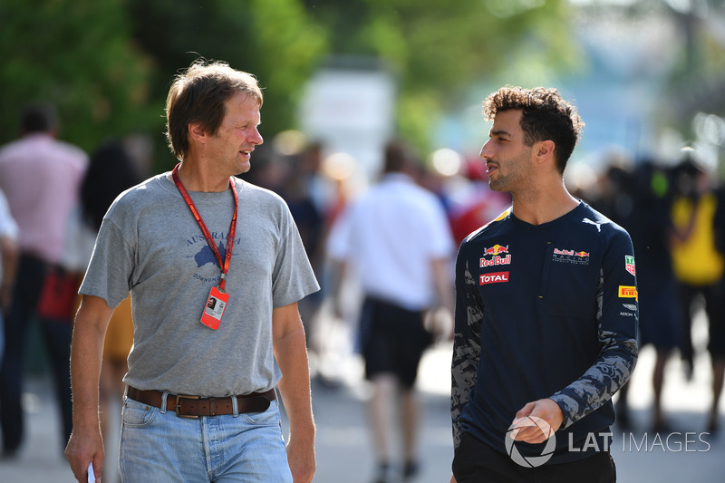 Daniel Ricciardo, Red Bull Racing, mit Michael Schmidt, Journalist
