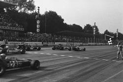 Fotofinish: Sieg für Peter Gethin, BRM P160