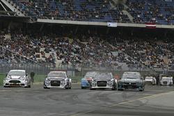 Reinis Nitiss, EKS, Audi S1 EKS RX Quattro; Reinis Nitiss, EKS, Audi S1 EKS RX Quattro; Guy Wilks, Loco World RX Team, VW Polo
