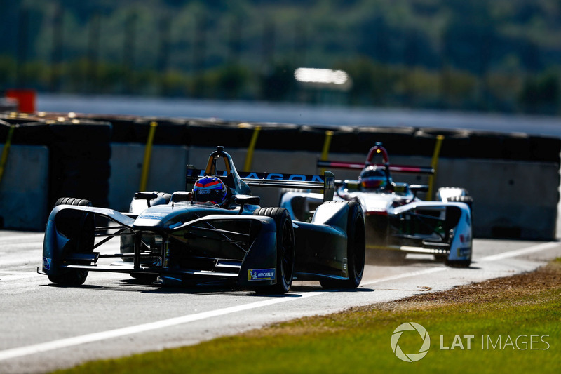 Mitch Evans, Jaguar Racing y Daniel Abt, Audi Sport ABT Schaeffler