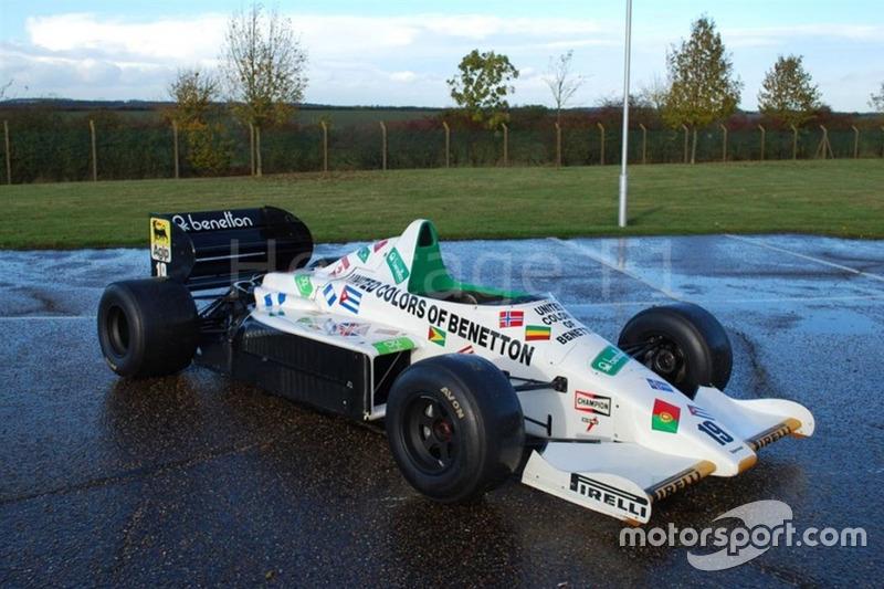 Esta Toleman TG185 foi dividida por Stefan Johansson e Teo Fabi na temporada 1985 e está à venda por 940 mil reais
