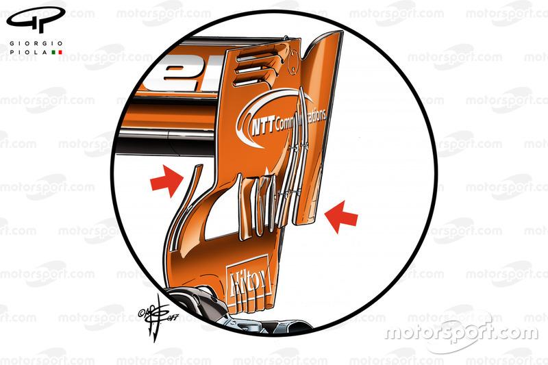 McLaren MCL32, achtervleugel GP van Bahrein